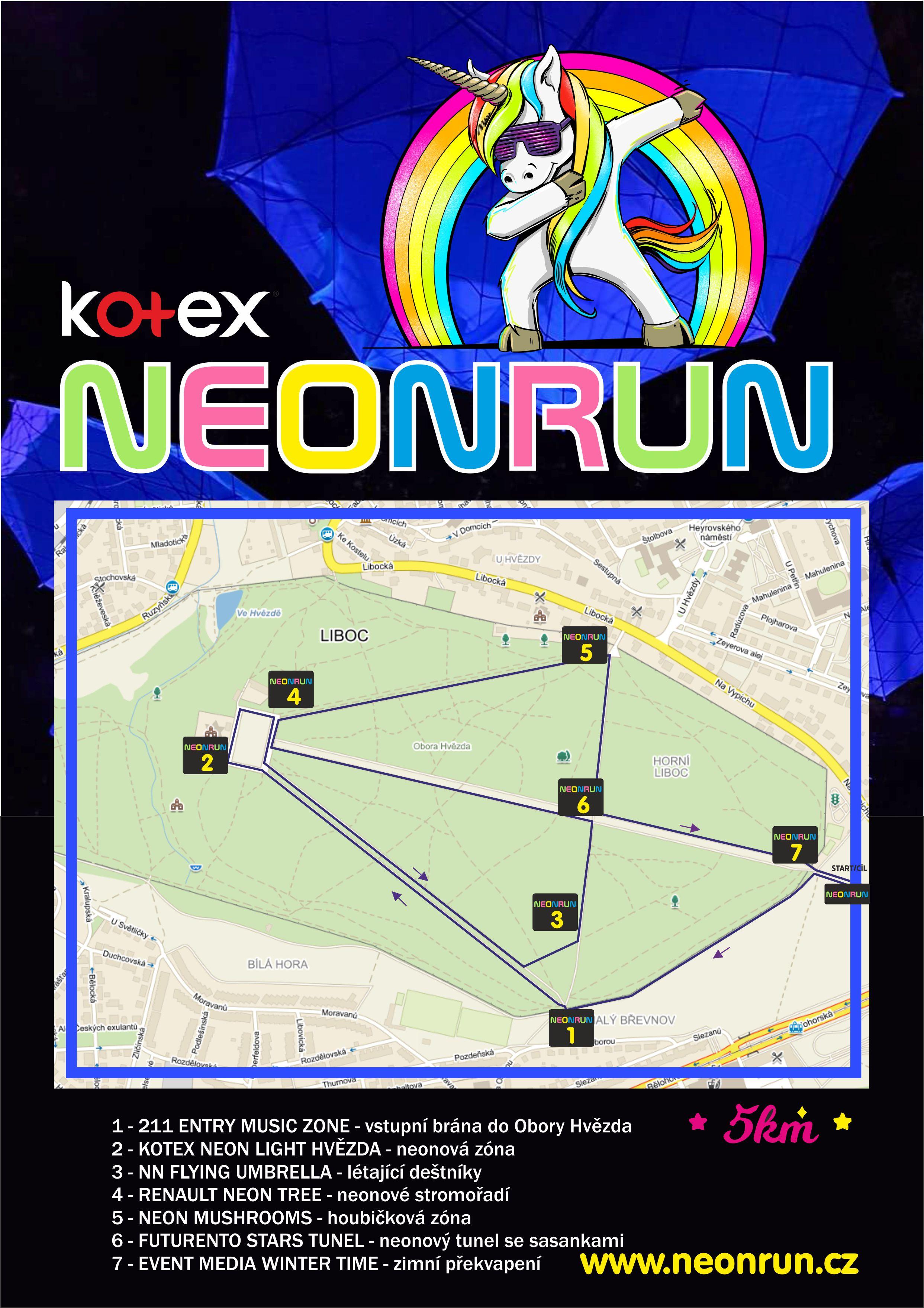 Mapa NEON Run 2018